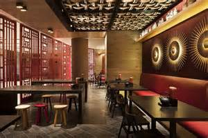 restaurant interior design idea with touched and fancy stools design