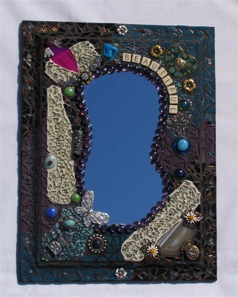 Handmade Mosaic Mirrors - beautiful handmade mosaic wall mirror mr115 zoom enlarge