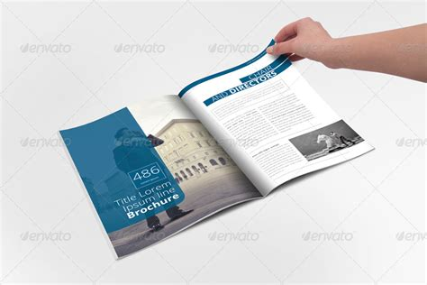 annual report brochure indesign template by braxas