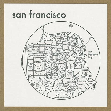 san francisco map etsy 1000 images about san francisco on