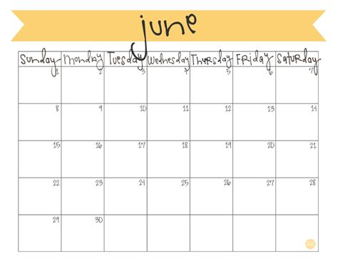 june 2014 calendar template june 2014 calendar free printable live craft eat