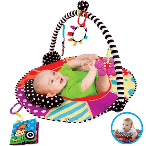 Sassy Tummy Time Mat by Sassy Deluxe Seat Positioner Infant Sitting