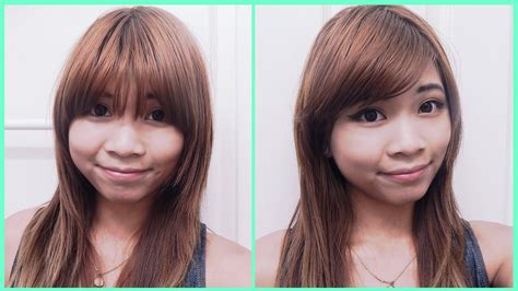 hairstyles with side bangs youtube how to style straight bangs to the side youtube
