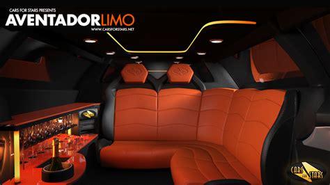 inside lamborghini limo lamborghini aventador limo