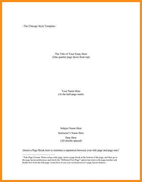 Essay Title Page by Exle Of Chicago Style Essay College Essay Papers Exles Of Essays In Chicago