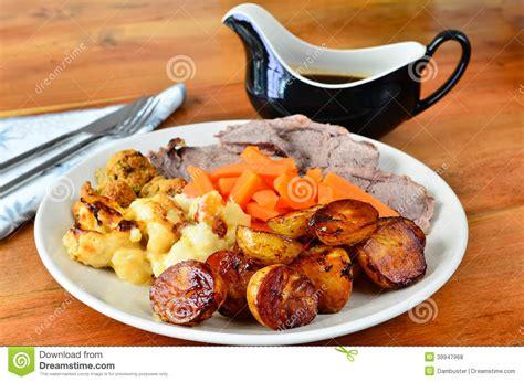 gravy boat carvery sunday dinner stock photo image 39947968