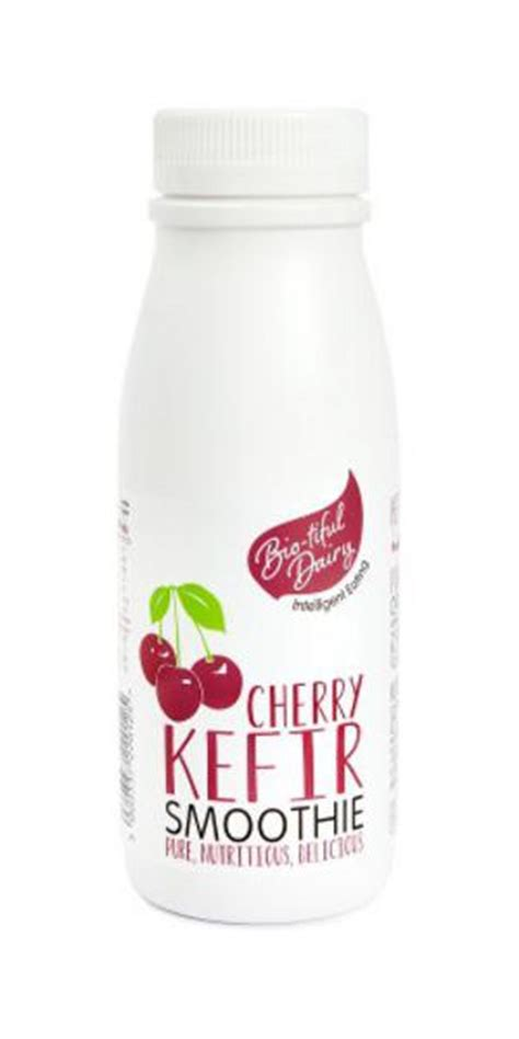 Kefir 250ml cherry kefir smoothie in 250ml from bio tiful dairy