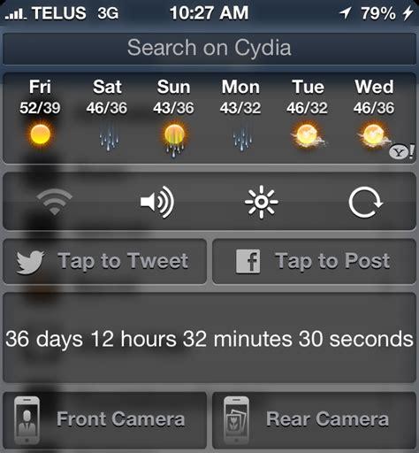 notification center themes cydia notification center widgets cydia ipad