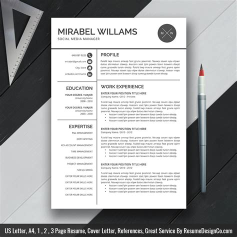 professional templates for pages professional resume template word resume simple cv 4