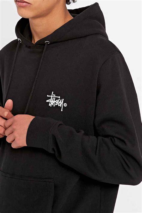 Jaket Sweter Hoodie Eiger 5 stussy basic logo hoodie in black in black for lyst