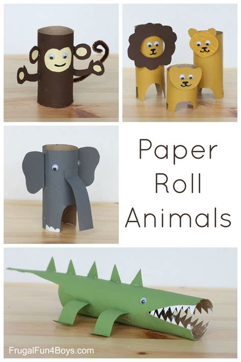 Paper Animals - paper roll animals paper towel rolls paper paper and