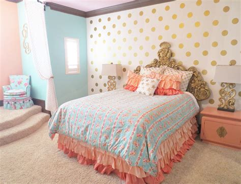 gold and coral bedroom gold and coral teen room home decor ideas