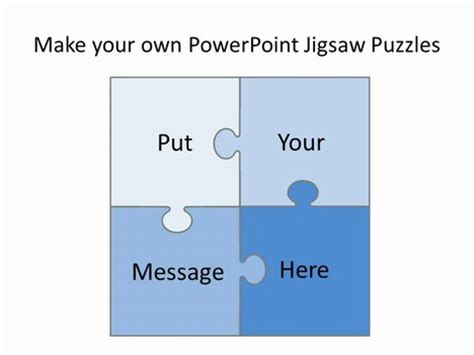powerpoint puzzle pieces template editable jigsaw pieces template