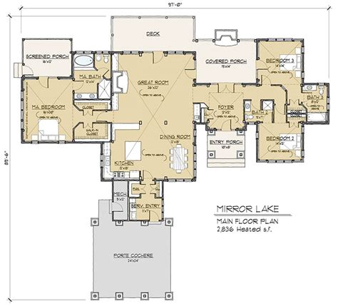 timber frame home floor plans mirror lake timber frame floor plan by mill creek