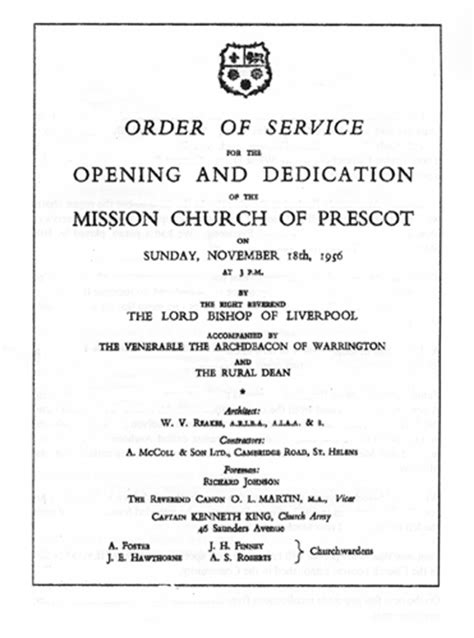 Order Of Church Service Template church order of service template