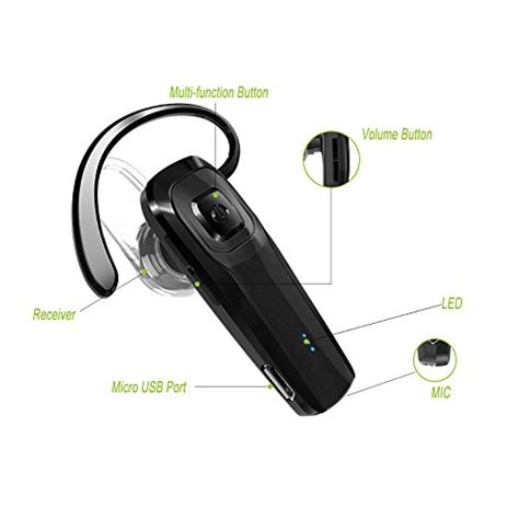 Headset Samsung Android toorun m26 bluetooth headset v4 1 bluetooth earpiece with voice reminder and noise cancelling