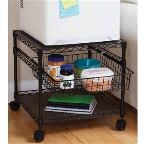 amazon com multi purpose rolling utility cart 2 shelf