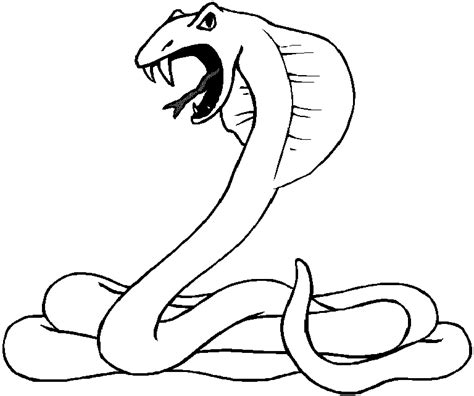 coloring pages of dangerous animals snake coloring pages
