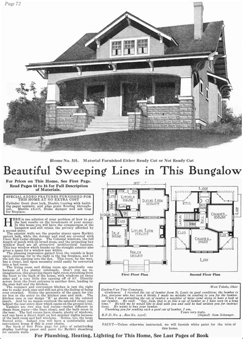 gordon van tine house plans 1918 gordon van tine model no 531 classic craftsman style bungalow