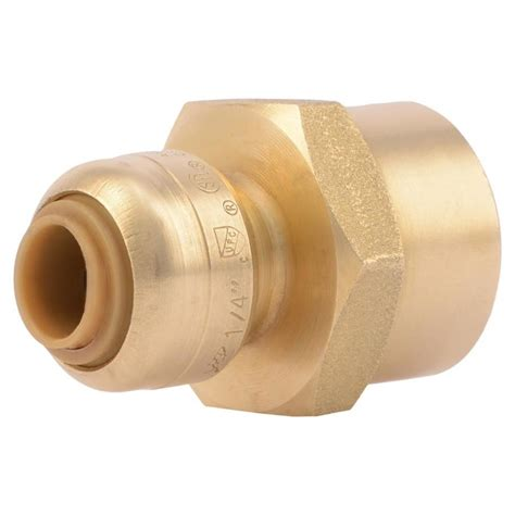 Shark Plumbing Fittings Reviews by Shop Sharkbite 1 4 In Dia Adapter Push Fitting At