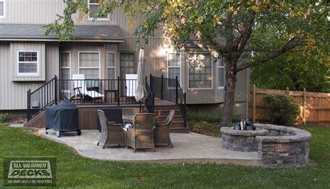 replace wood deck with concrete patio concrete patio bathroom travel bag cage pendant