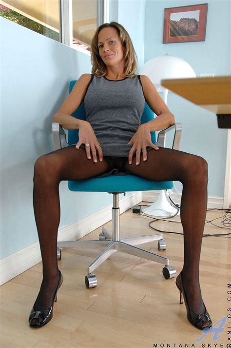 Pantyhose Cougar Woman Office And Office Secretary