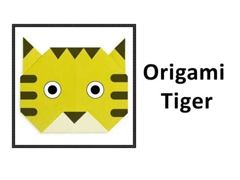 How To Make Origami Tiger - how to make an origami tiger