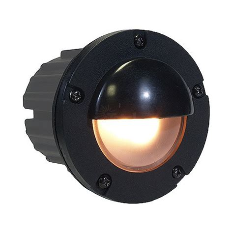 Outdoor Low Voltage Hooded Pbt Composite Round Recessed Low Voltage Step Lights Outdoor