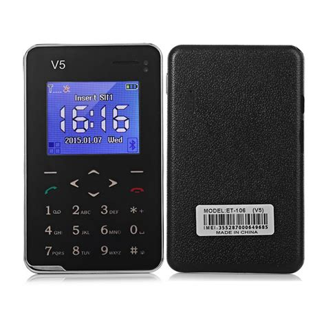 One V5 Phone new aiek v5 card mobile phone 6 9mm ultra thin pocket mini
