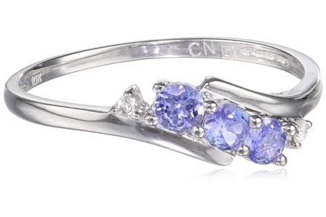 10k white gold tanzanite and ring visuall co