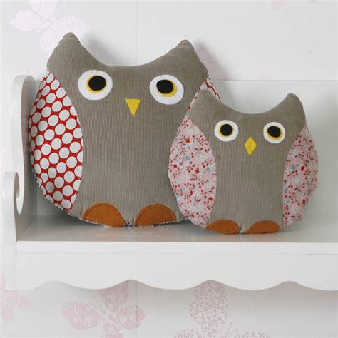 Handmade Owl Cushion - owl cushion handmade by berry apple