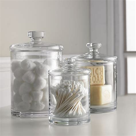 bathroom glass canisters glass canisters