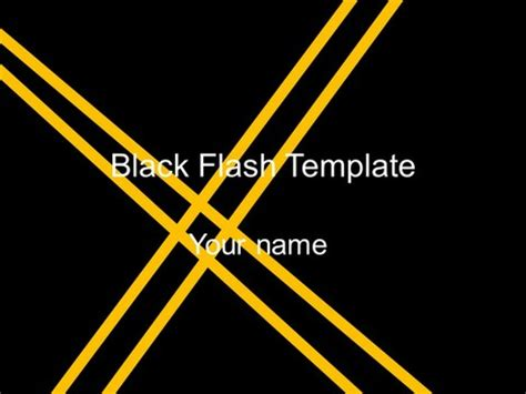 flash powerpoint presentation templates black flash template