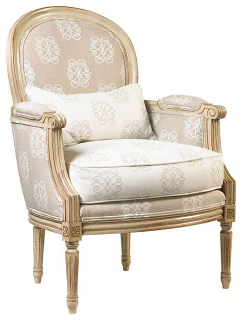 Country Accent Chairs by Laval Country Medallion Back Monogram Upholstered