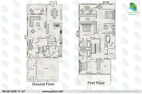 3 bedroom quadraplex villa floor plan saadiyat