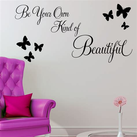 Zebra Print Stickers For Walls be your own kind of beautiful wall sticker quote decals
