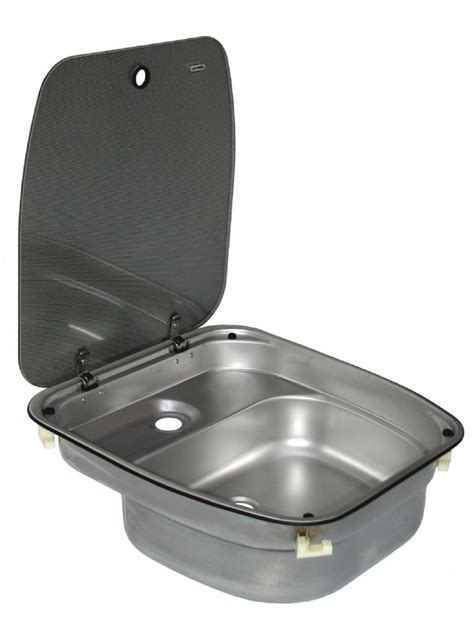 caravan sink with lid dometic cramer sink with glass lid deluxe caravan and