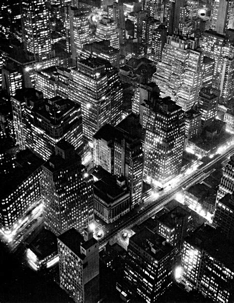 The world of old photography: Berenice Abbott: Nightview