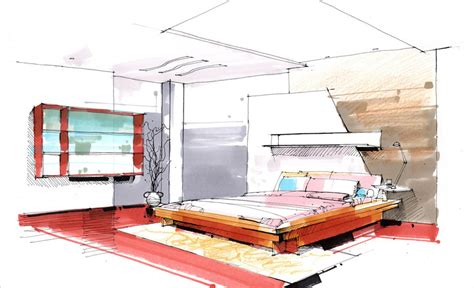 bedroom design sketch 3d house