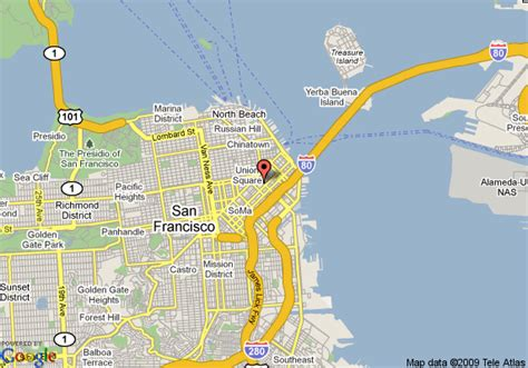 san francisco map of america map of w san francisco san francisco