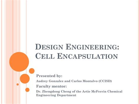 powerpoint design engineering ppt design engineering cell encapsulation powerpoint