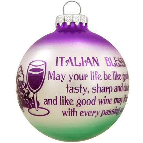 italian ornament italian blessing wine glass ornament blessings prayers