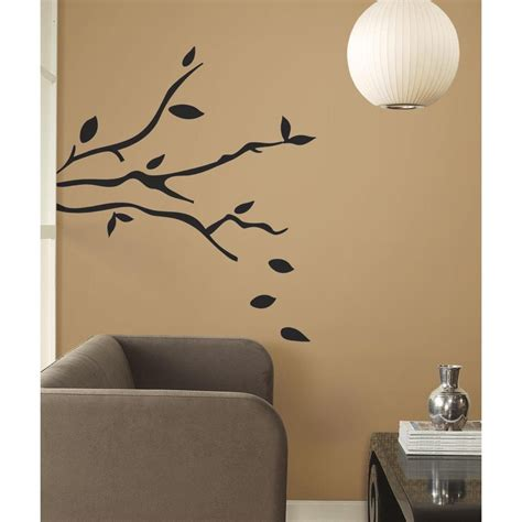 peel and stick wall decals roommates rmk1317gm tree branches peel stick wall decals