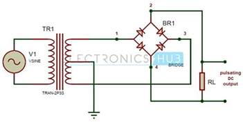 wave bridge rectifier circuit working and applications