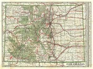 map of us colorado clason s guide map of colorado geographicus antique