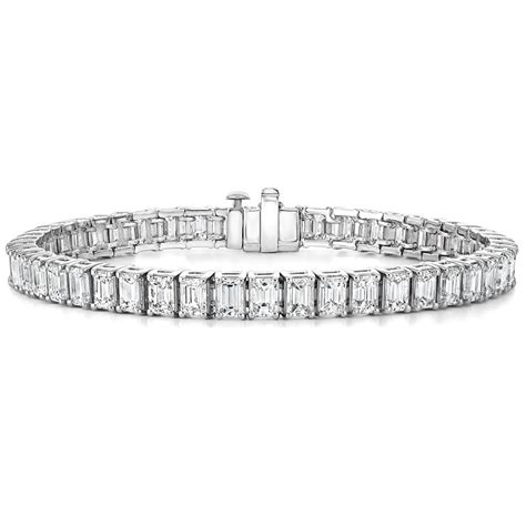 1 Ct Tw Tennis Bracelet by Platinum Emerald Cut Tennis Bracelet 12 Ct Tw
