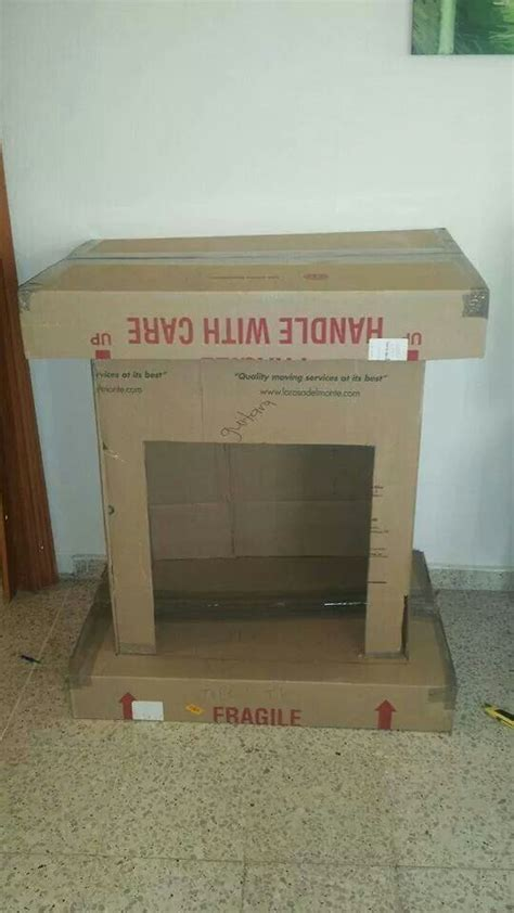 Cardboard Fireplace With Chimney by Best 25 Cardboard Fireplace Ideas On