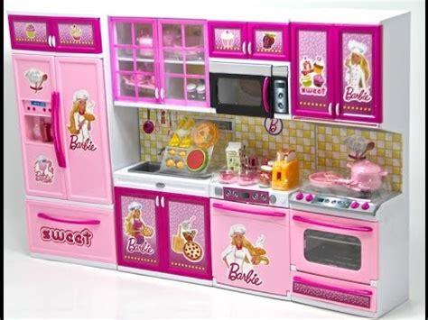Barbie mutfak seti..barbie kitchen set   YouTube