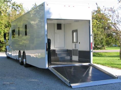 Trailer With Garage by Motorhome Garage