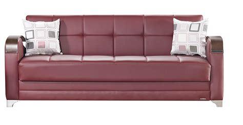 burgundy sleeper sofa etro prestige burgundy leatherette sofa bed by mobista